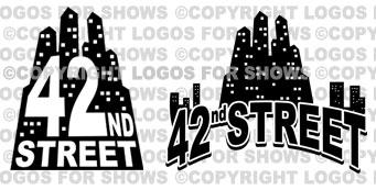 Logos for Shows: 42nd Street - logo, poster design, artwork